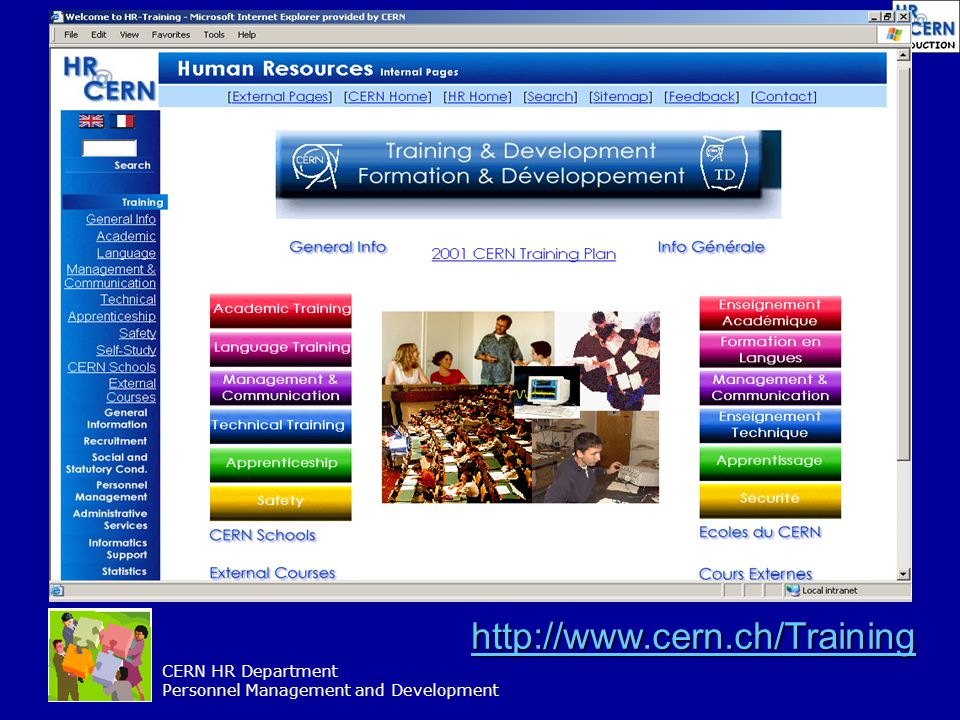 http://www.cern.ch/Training CERN HR Department Personnel Management and Development