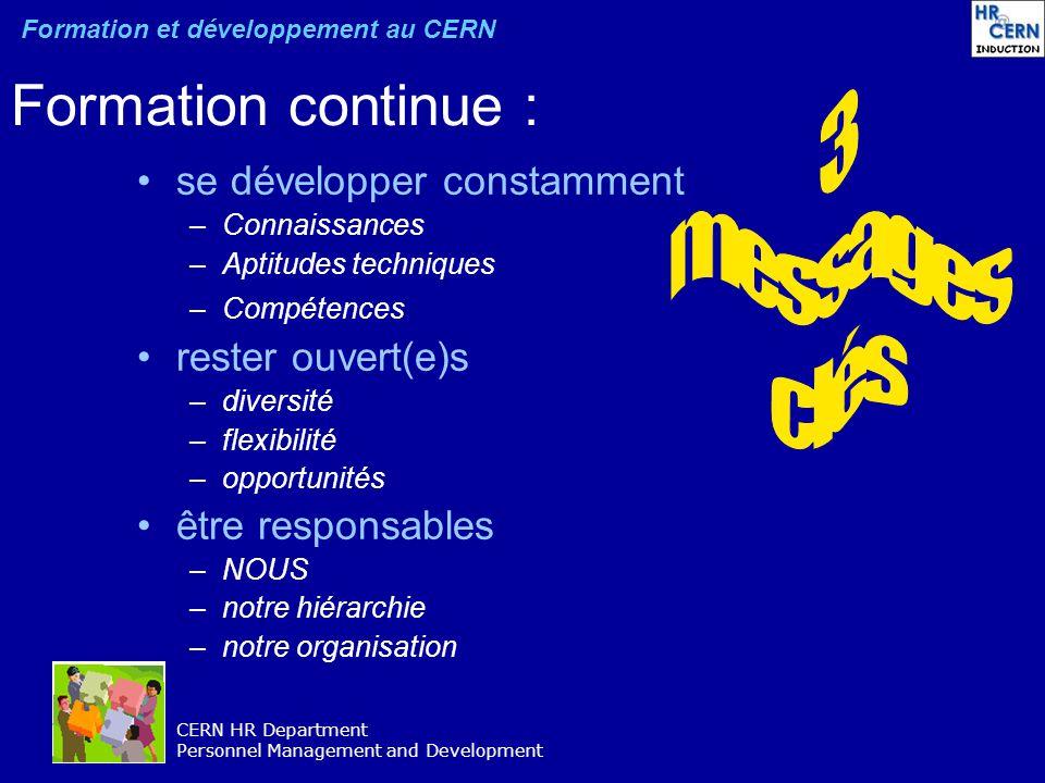 Formation continue : 3 messages clés se développer constamment