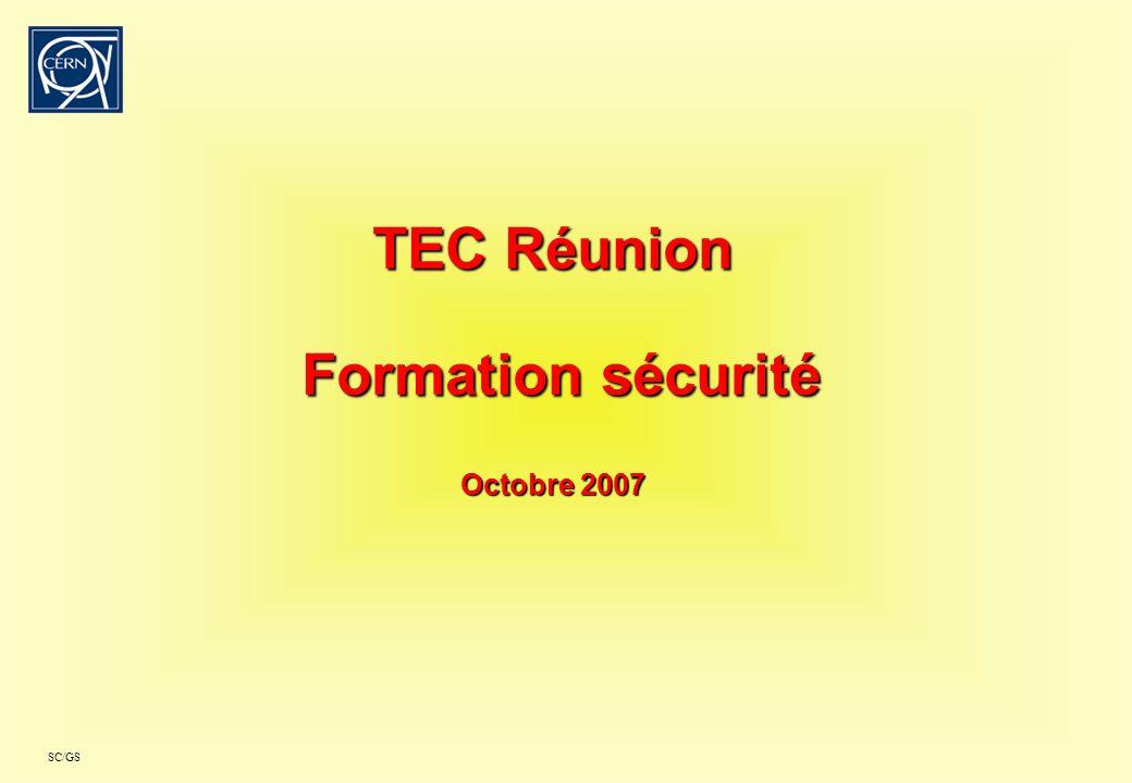 TEC Réunion Formation sécurité Octobre 2007