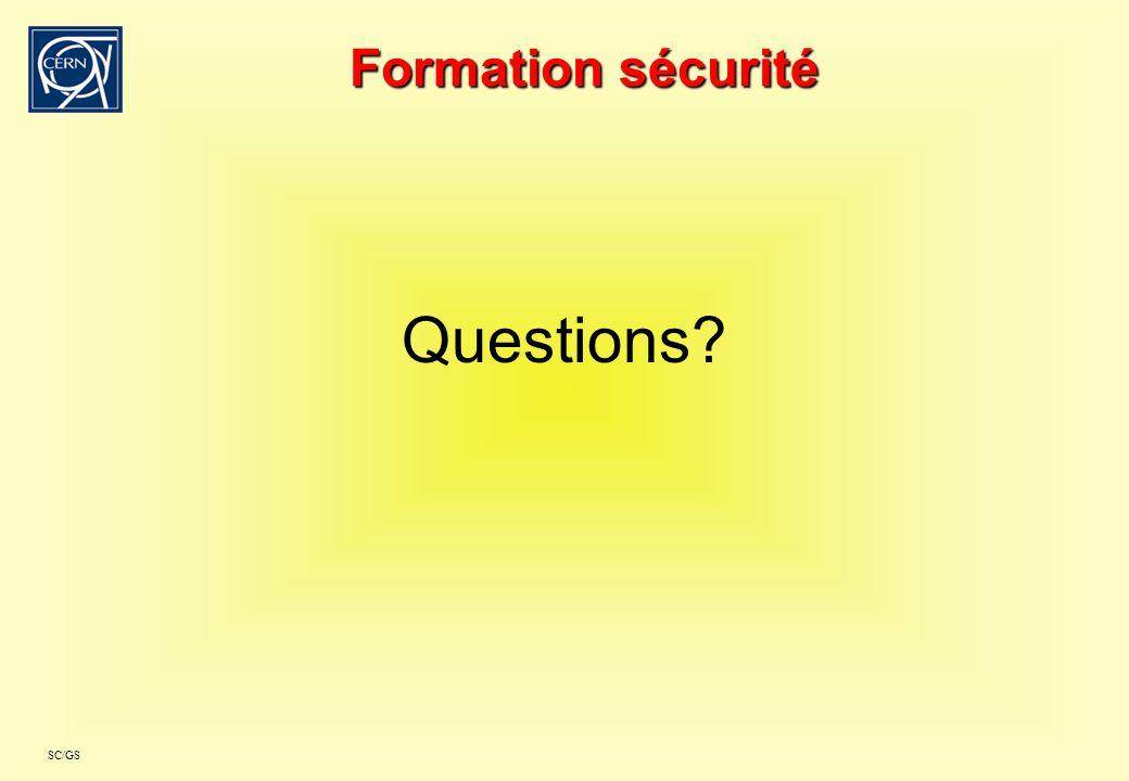 Formation sécurité Questions