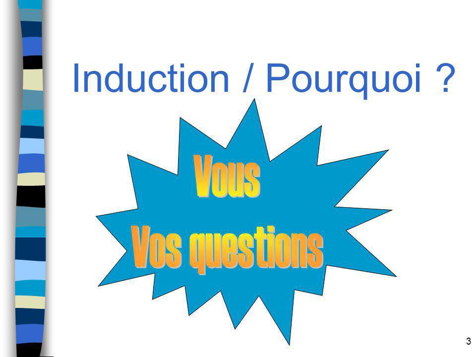 Induction / Pourquoi Vous Vos questions
