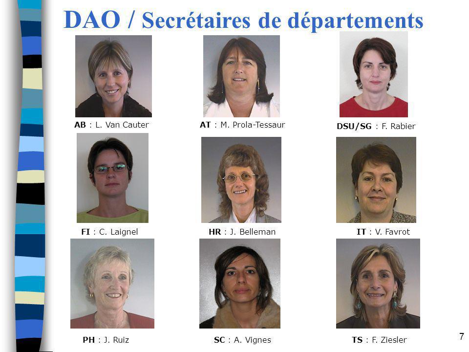 DAO / Secrétaires de départements