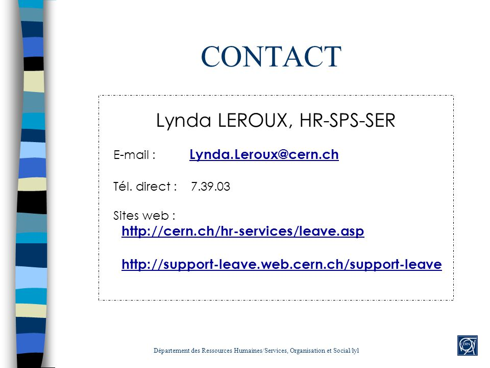Lynda LEROUX, HR-SPS-SER