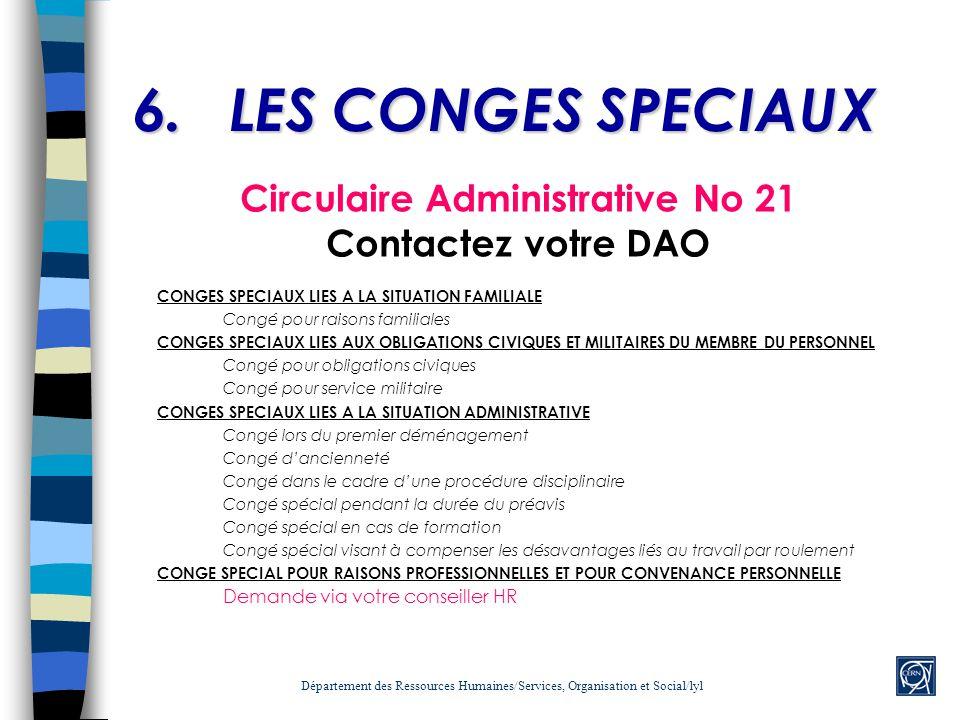 Circulaire Administrative No 21