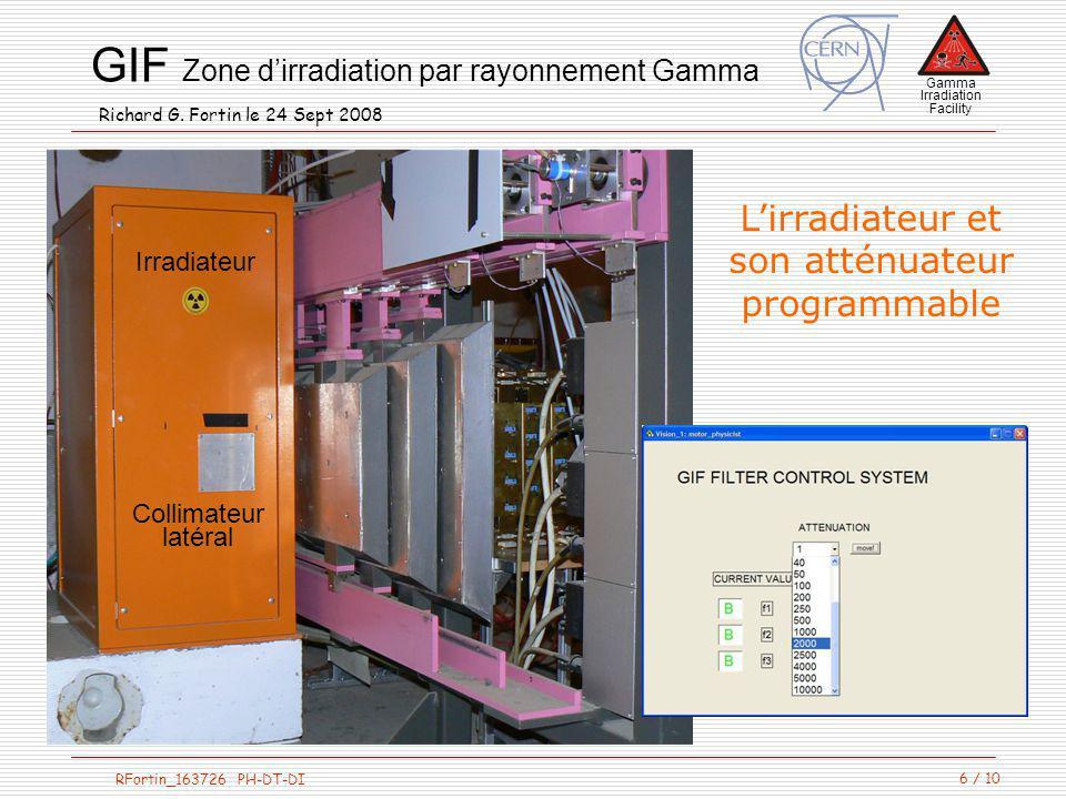 L'irradiateur et son atténuateur programmable Irradiateur Collimateur