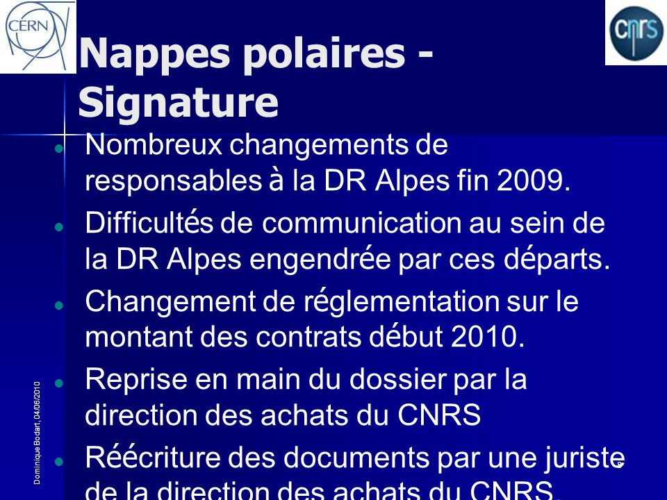 Nappes polaires - Signature