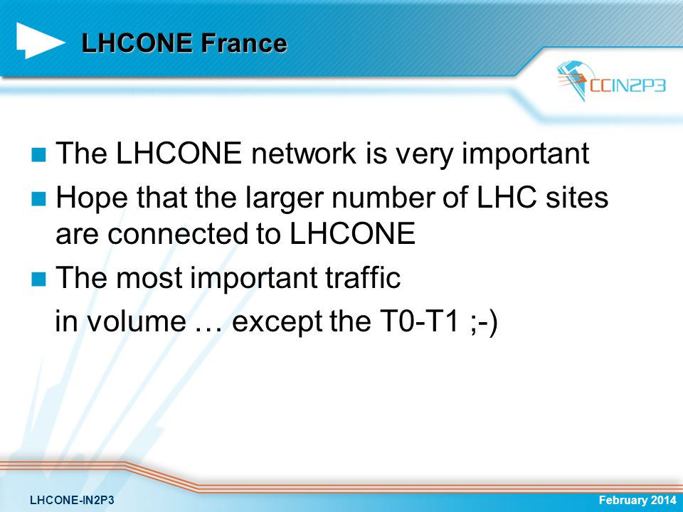 The LHCONE network is very important