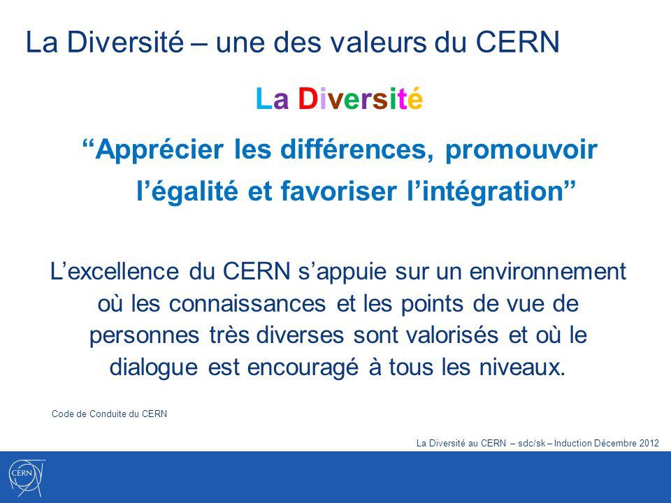 La Diversité – une des valeurs du CERN