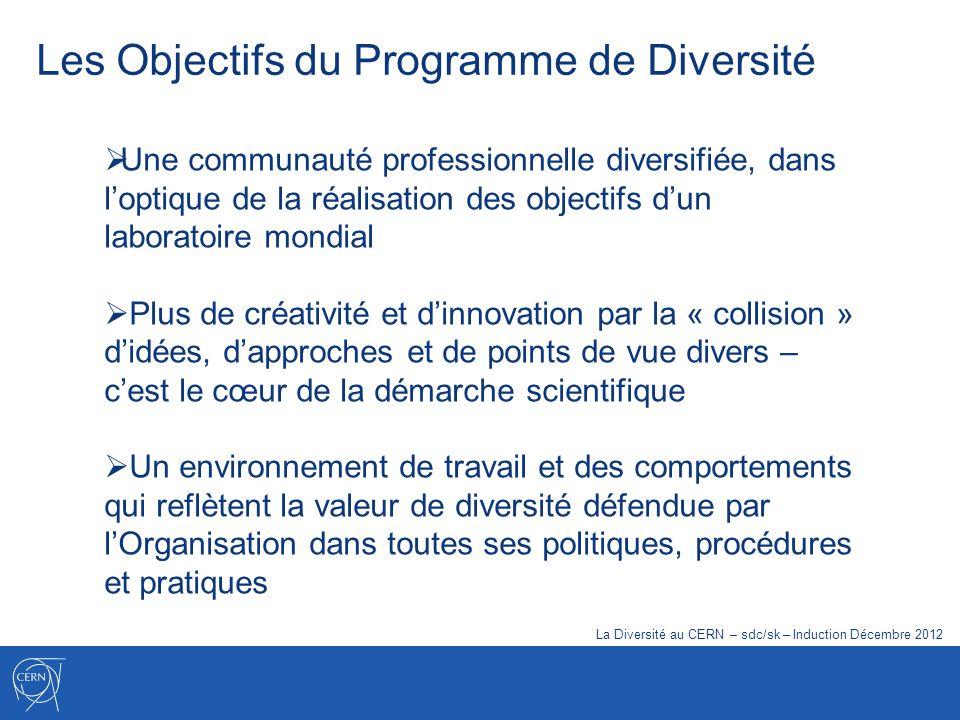 Les Objectifs du Programme de Diversité