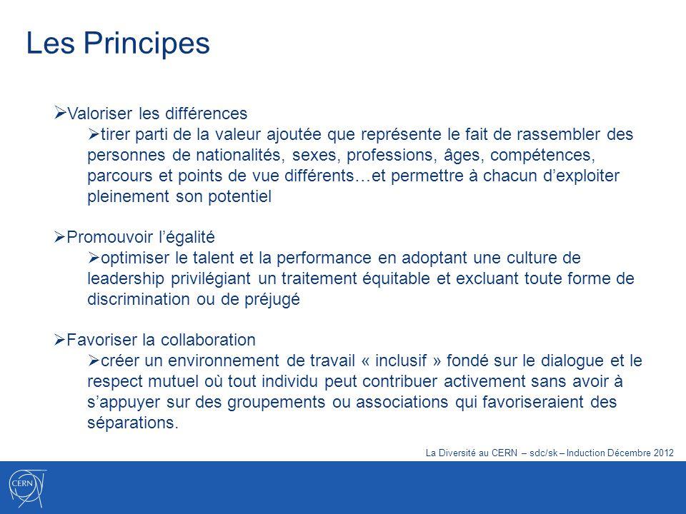 Les Principes Valoriser les différences