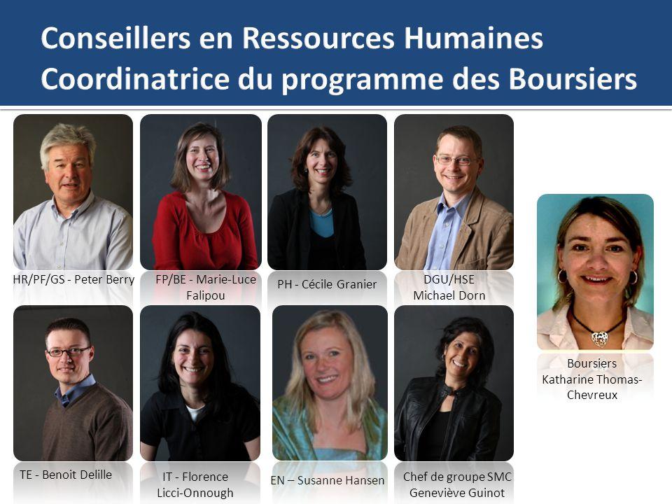 Conseillers en Ressources Humaines Coordinatrice du programme des Boursiers