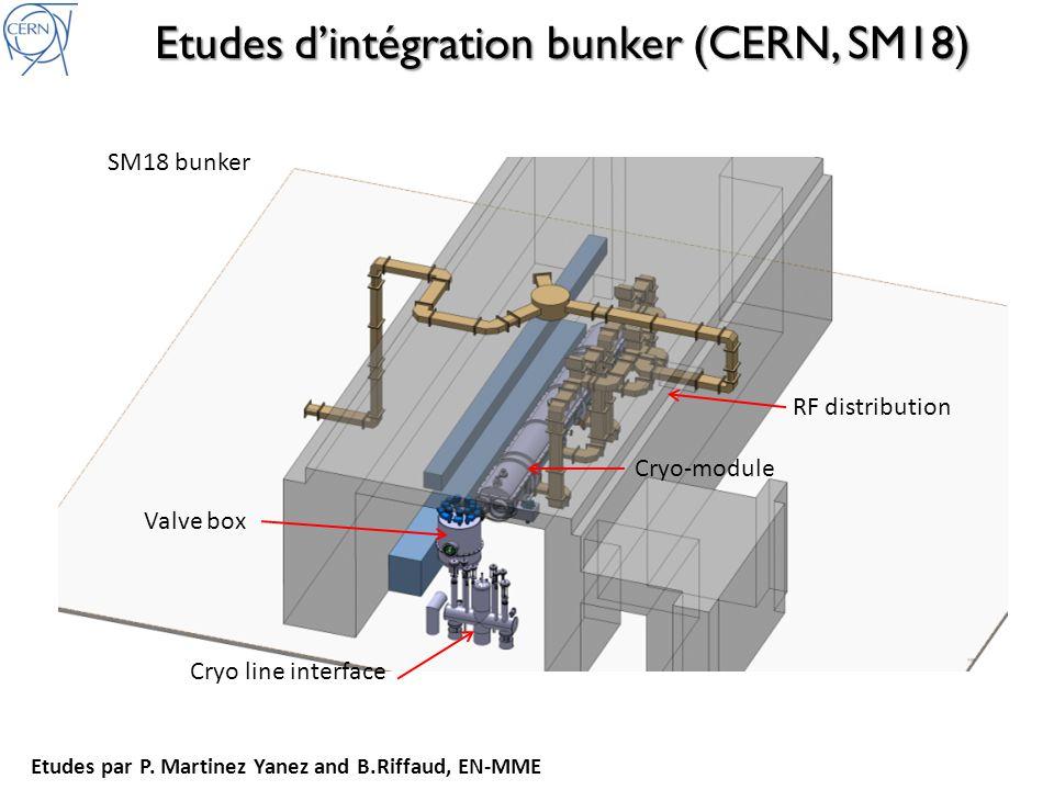 Etudes d'intégration bunker (CERN, SM18)