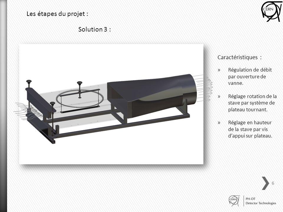 Les étapes du projet : Solution 3 : Caractéristiques :
