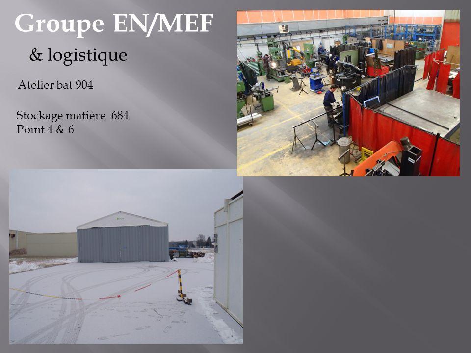 Groupe EN/MEF & logistique Atelier bat 904 Stockage matière 684