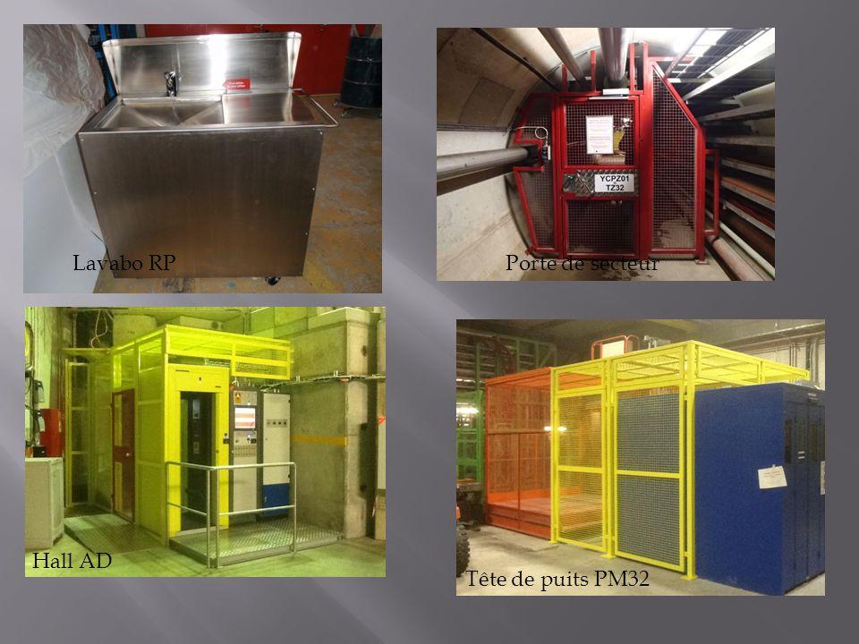 Lavabo RP Porte de secteur Hall AD Tête de puits PM32