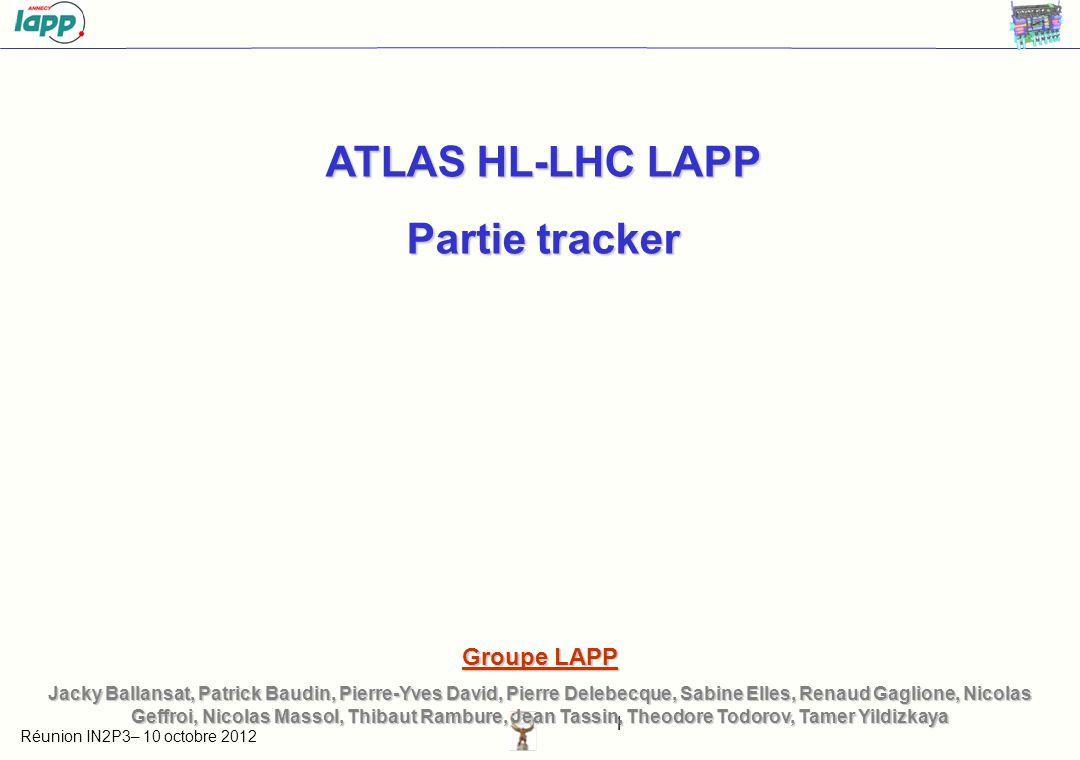 ATLAS HL-LHC LAPP Partie tracker