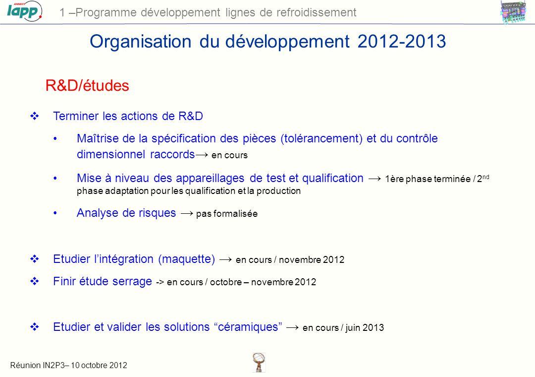 Organisation du développement 2012-2013