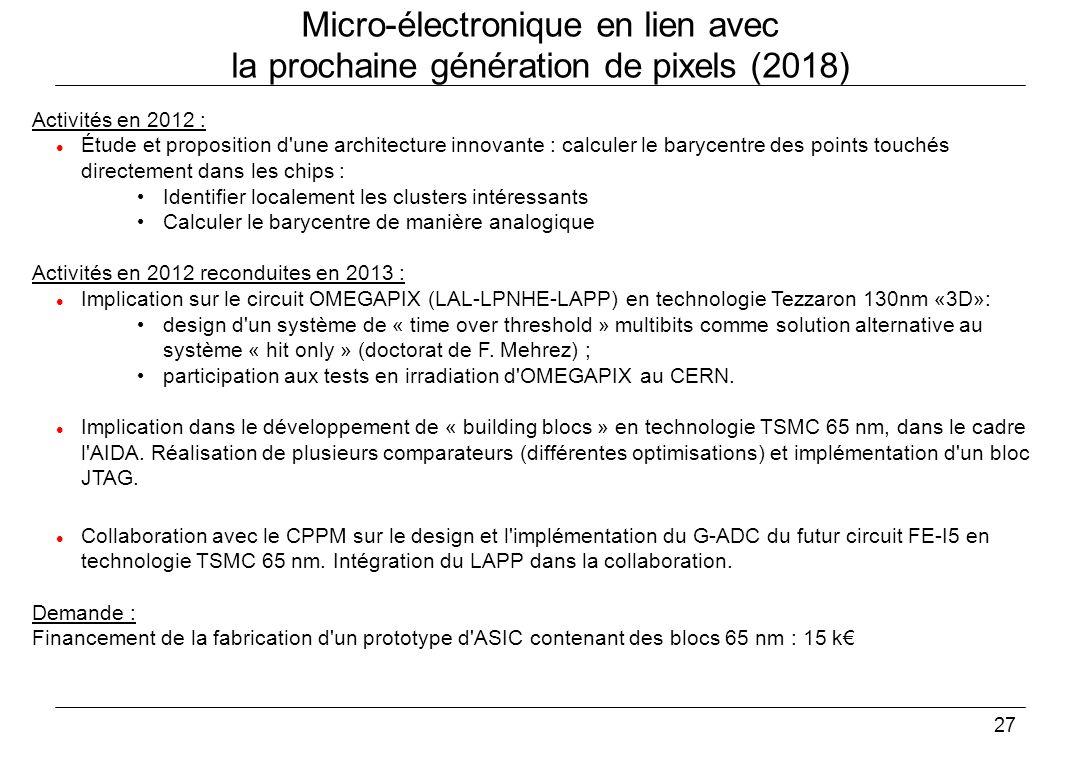 Micro-électronique en lien avec