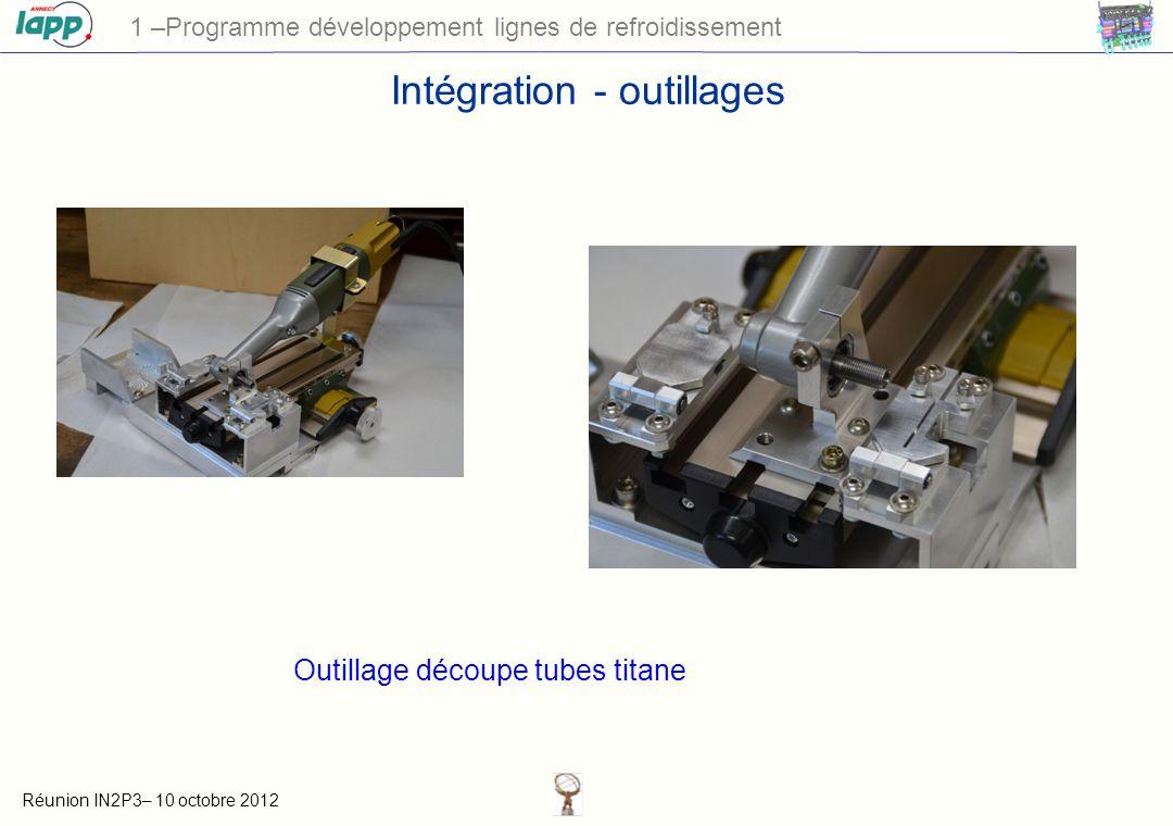 Intégration - outillages