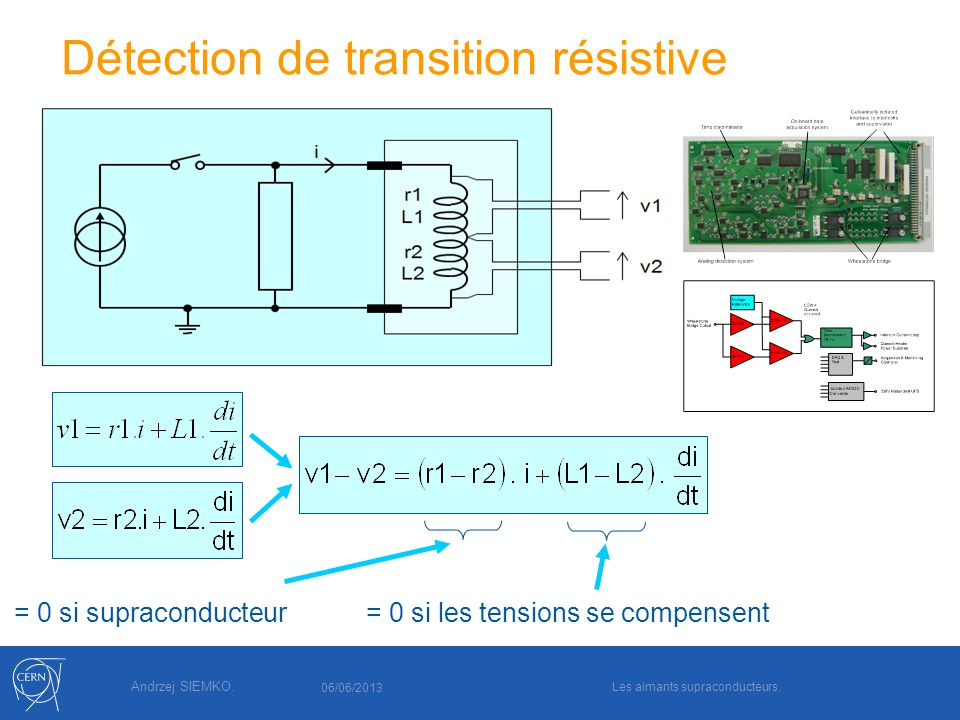 Détection de transition résistive