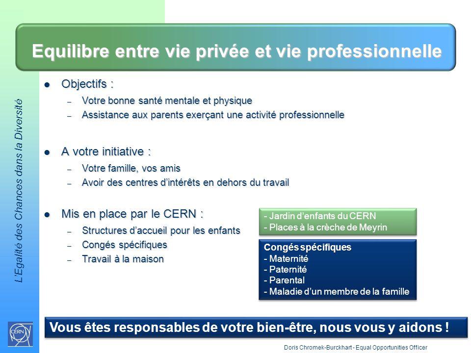 Equilibre entre vie privée et vie professionnelle