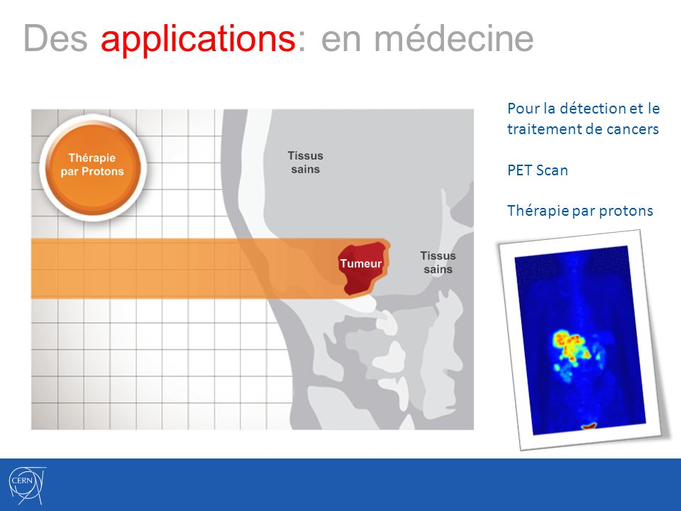 Des applications: en médecine