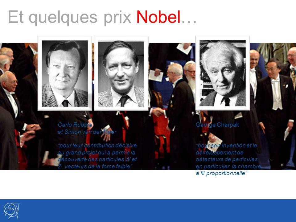 Et quelques prix Nobel…