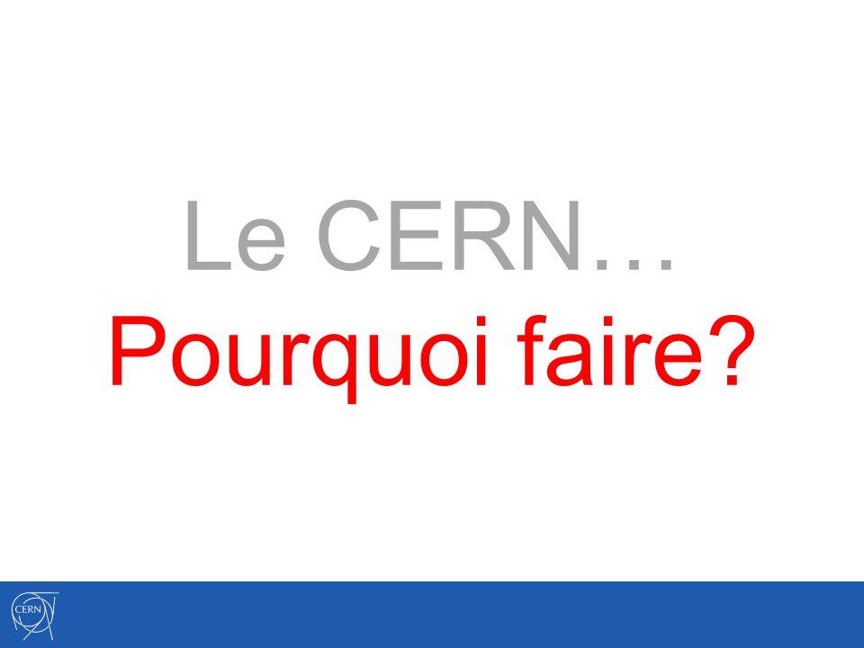 Le CERN… Pourquoi faire