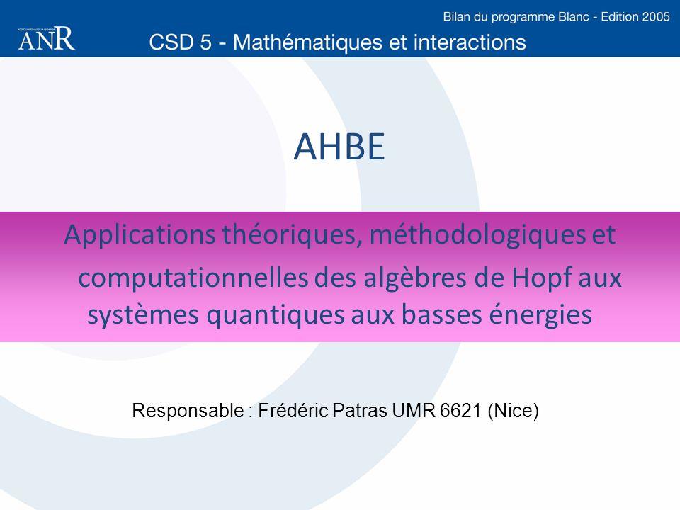 Applications théoriques, méthodologiques et
