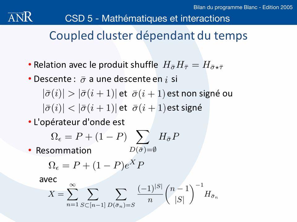 Coupled cluster dépendant du temps
