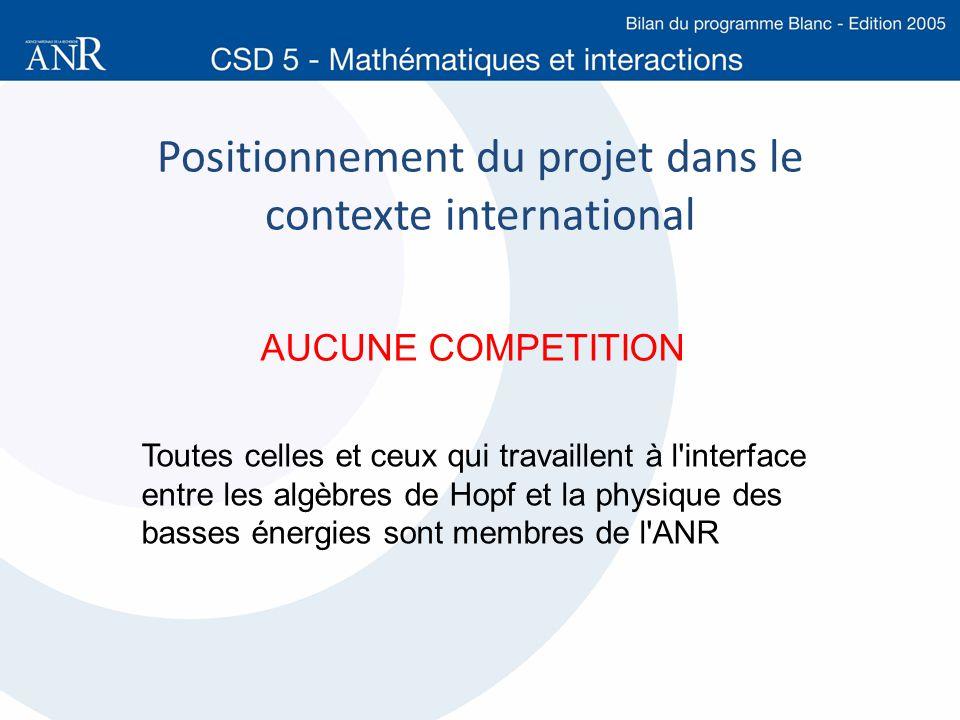 Positionnement du projet dans le contexte international