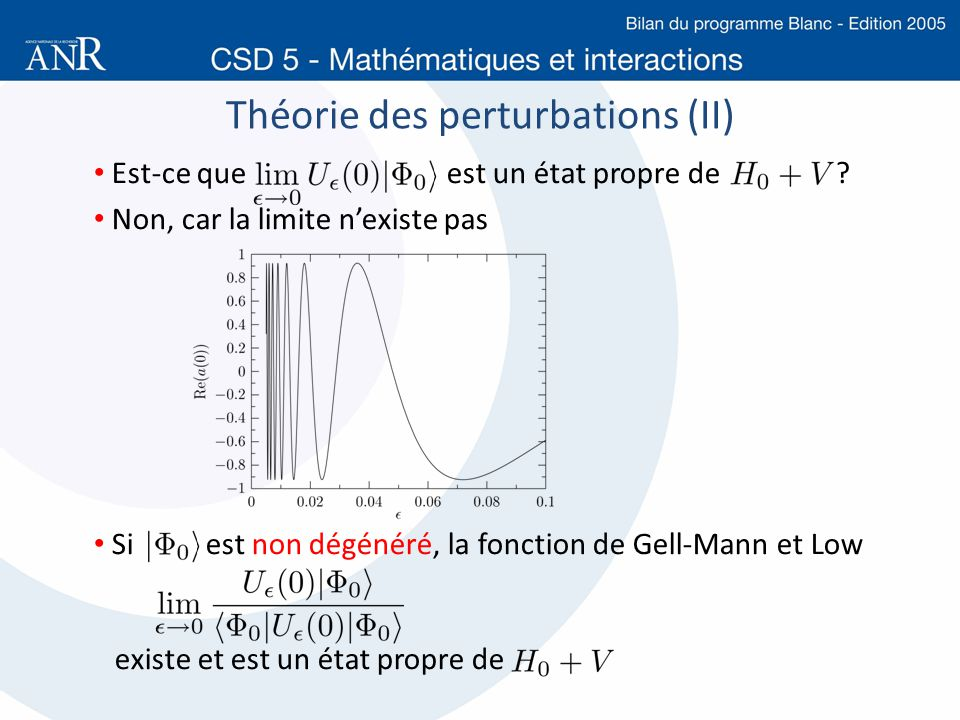 Théorie des perturbations (II)