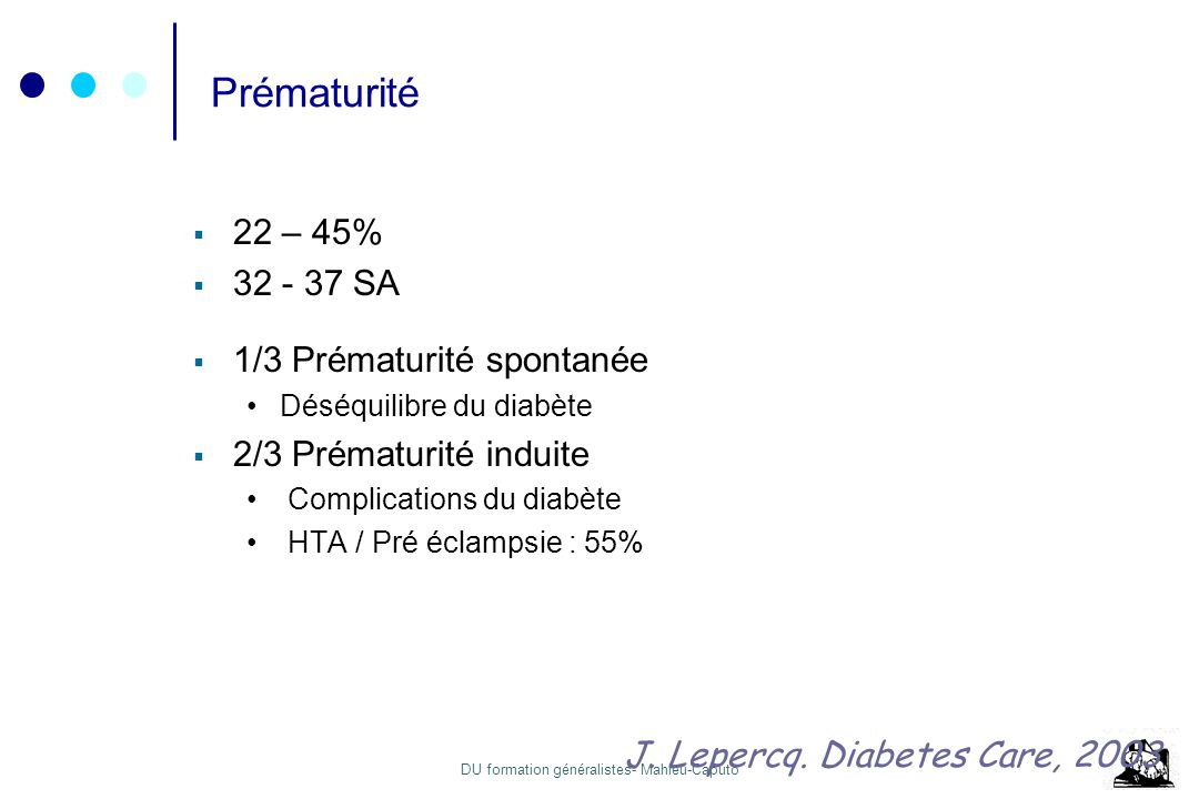 Prématurité 22 – 45% 32 - 37 SA 1/3 Prématurité spontanée