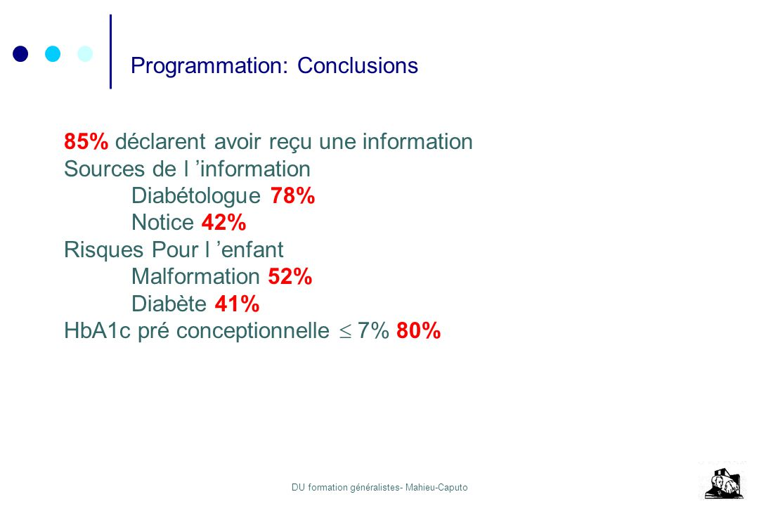 Programmation: Conclusions