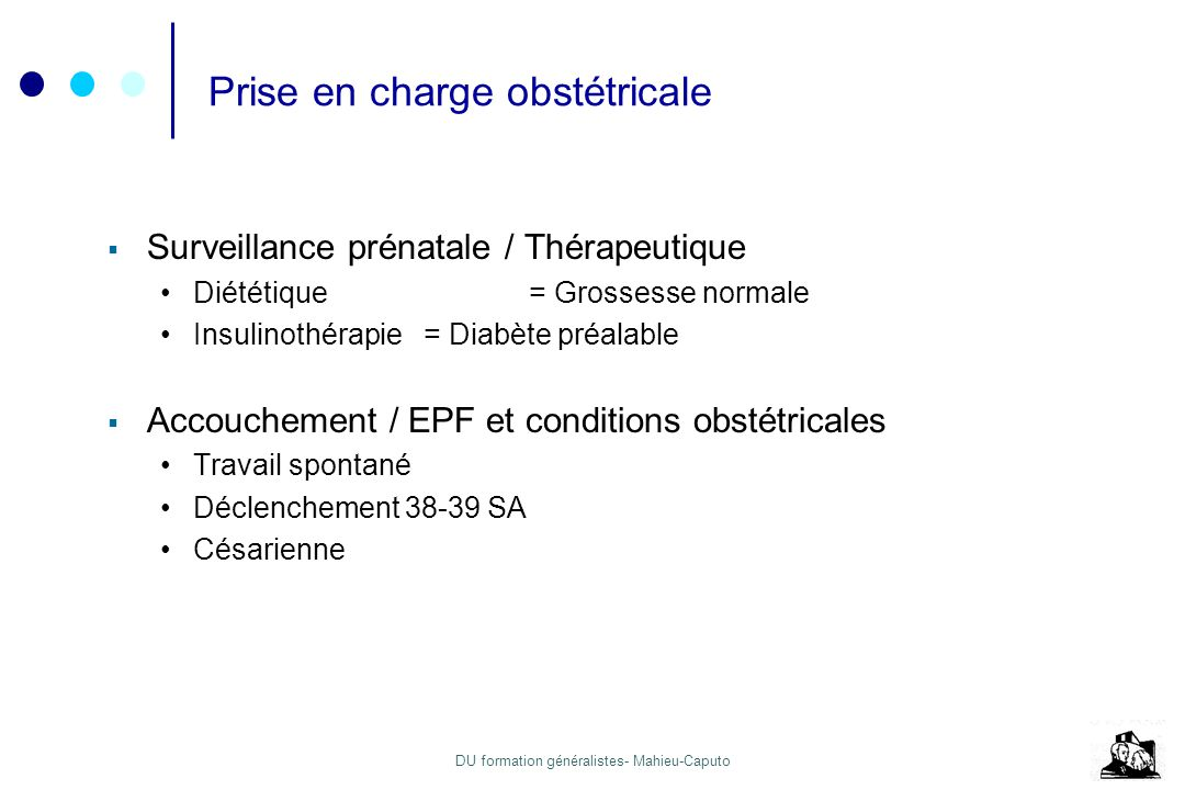 Prise en charge obstétricale