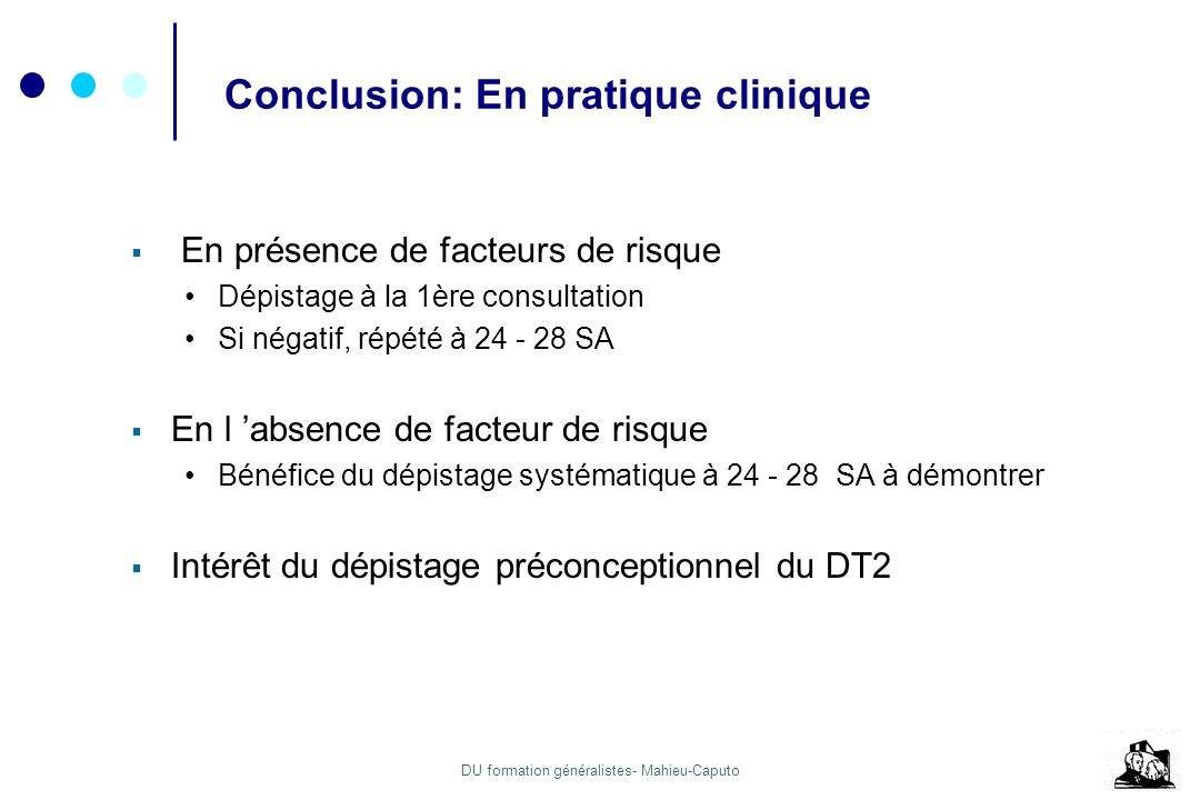 Conclusion: En pratique clinique