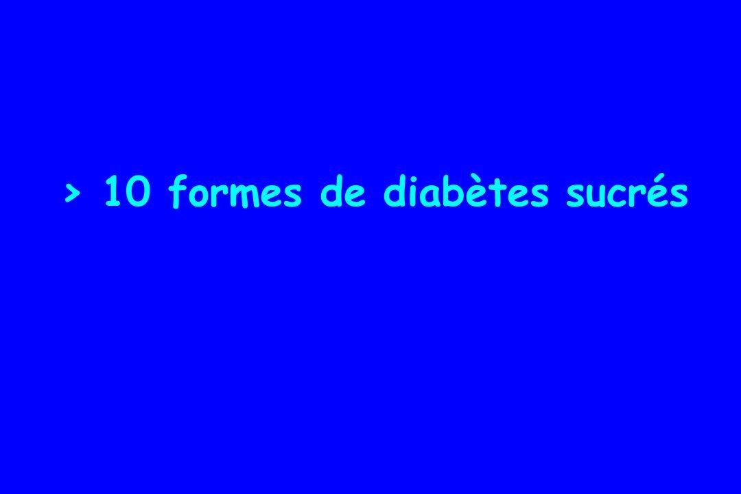 > 10 formes de diabètes sucrés
