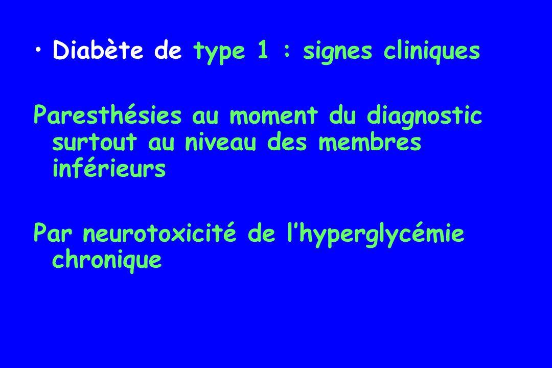 Diabète de type 1 : signes cliniques