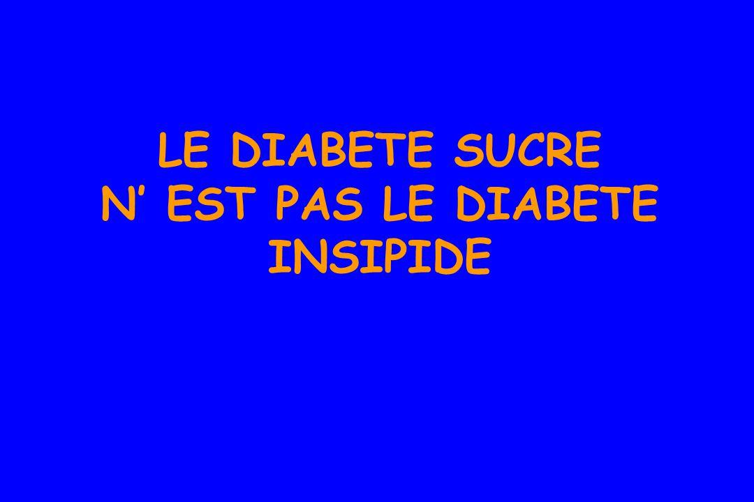 LE DIABETE SUCRE N' EST PAS LE DIABETE INSIPIDE