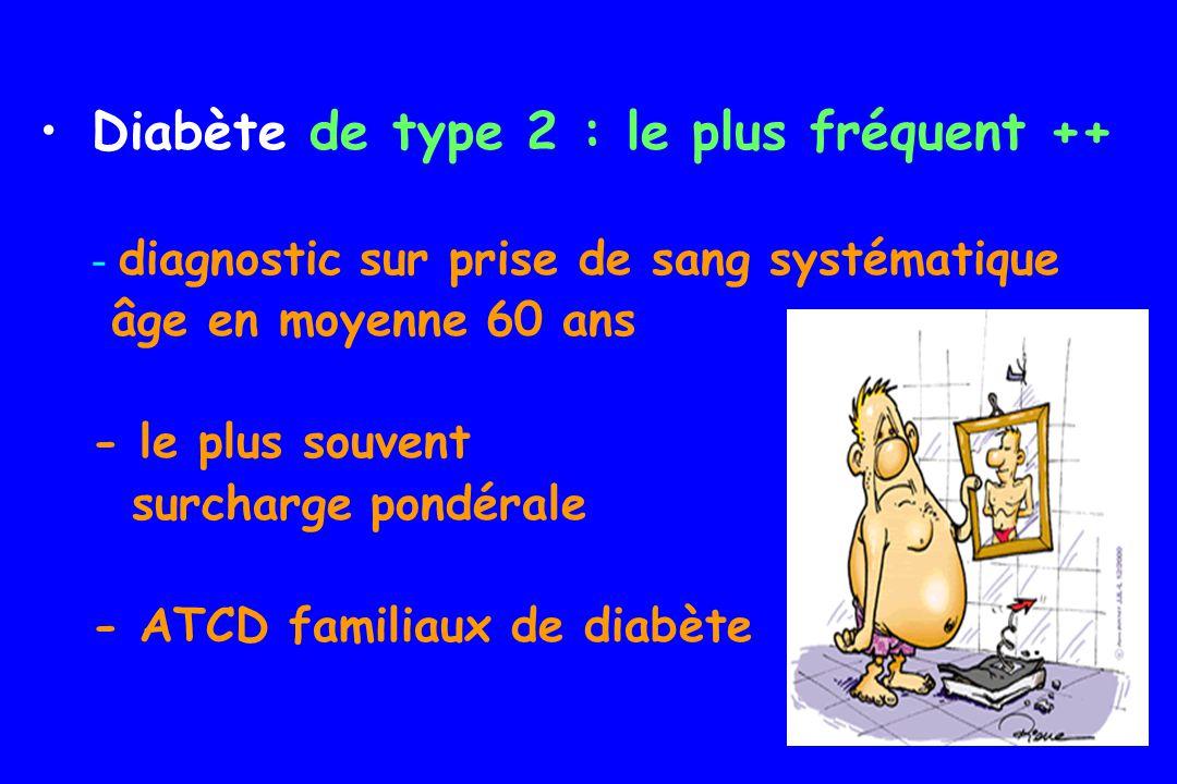 Diabète de type 2 : le plus fréquent ++