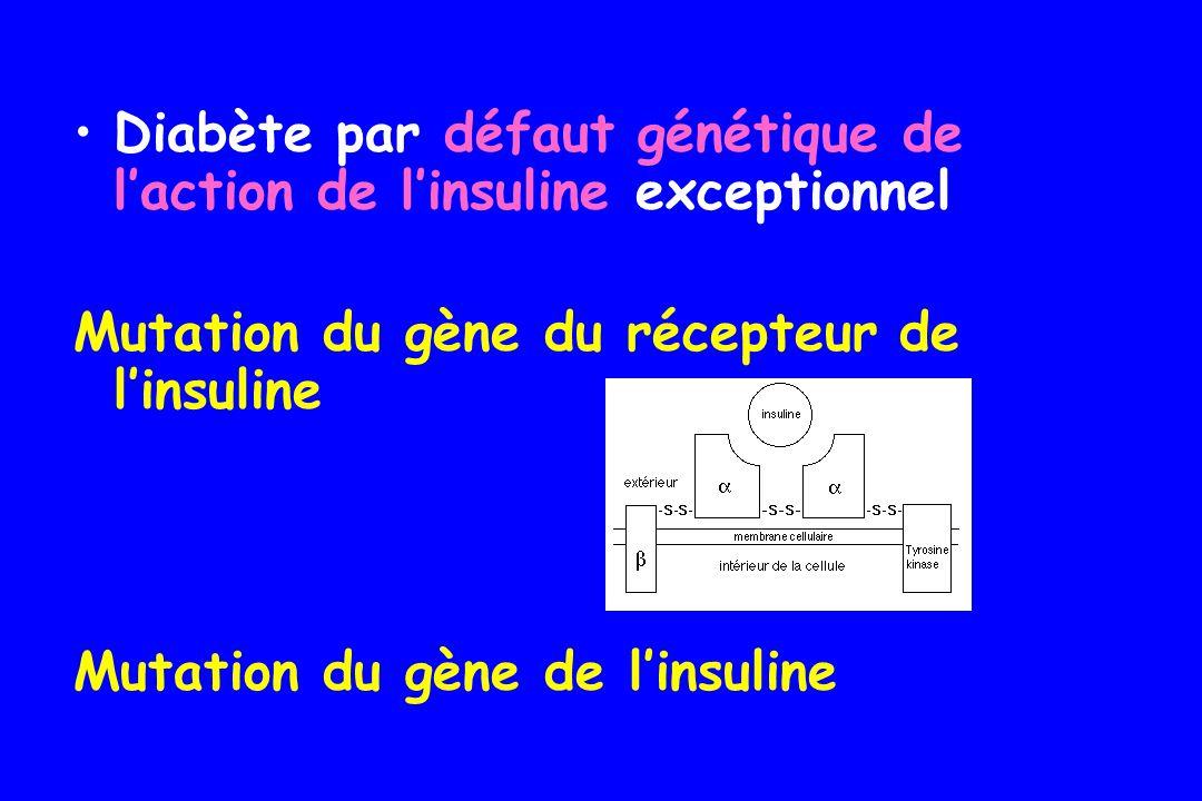 Diabète par défaut génétique de l'action de l'insuline exceptionnel