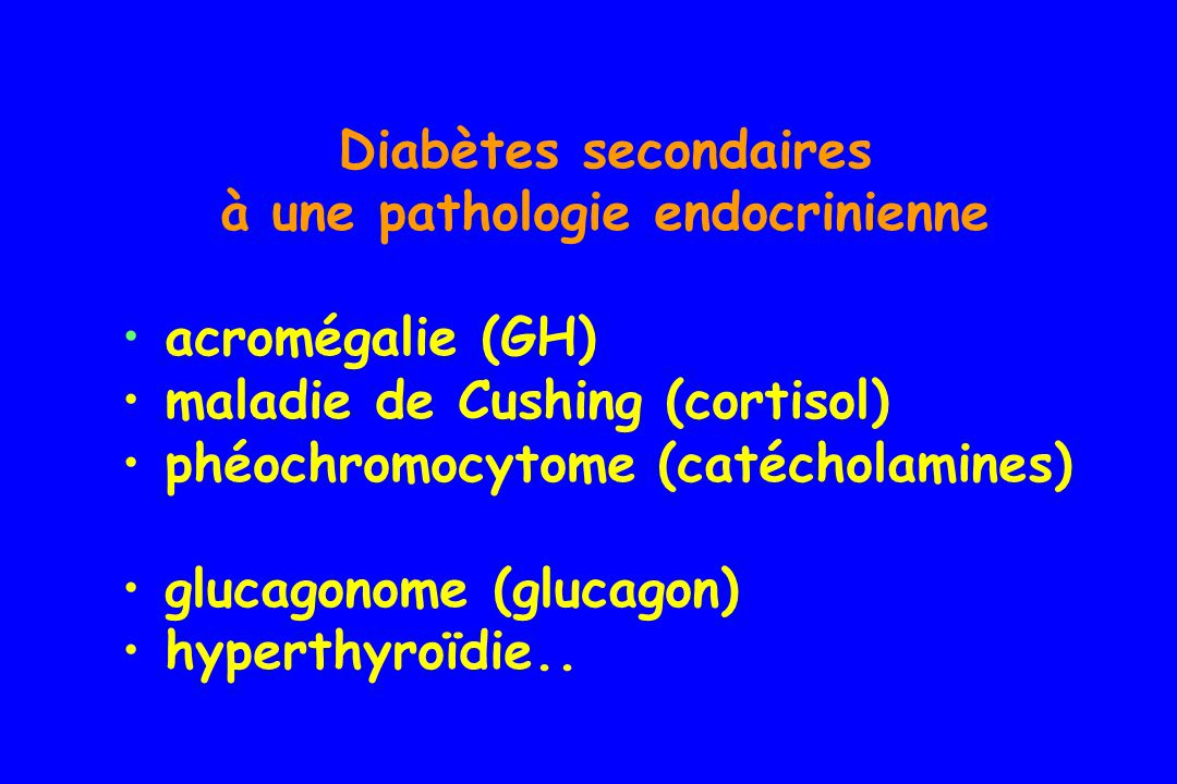 à une pathologie endocrinienne
