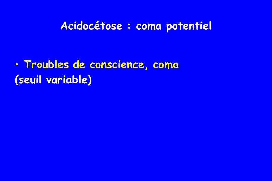Acidocétose : coma potentiel