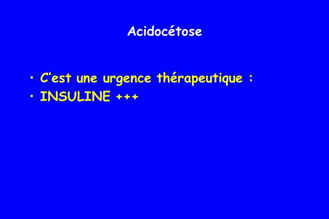 Acidocétose C'est une urgence thérapeutique : INSULINE +++