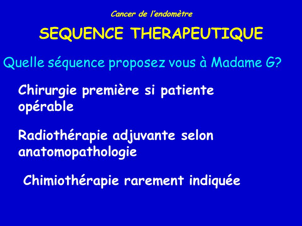 SEQUENCE THERAPEUTIQUE