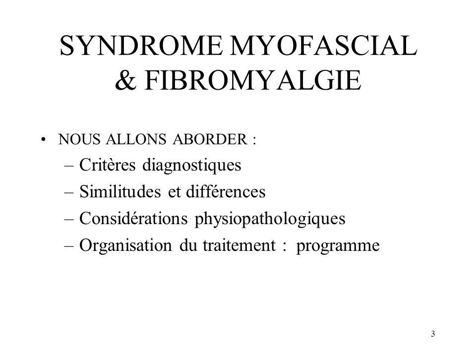 SYNDROME MYOFASCIAL & FIBROMYALGIE
