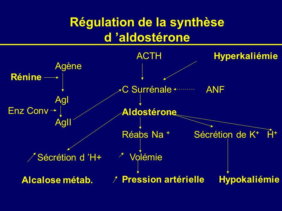 Régulation de la synthèse d 'aldostérone