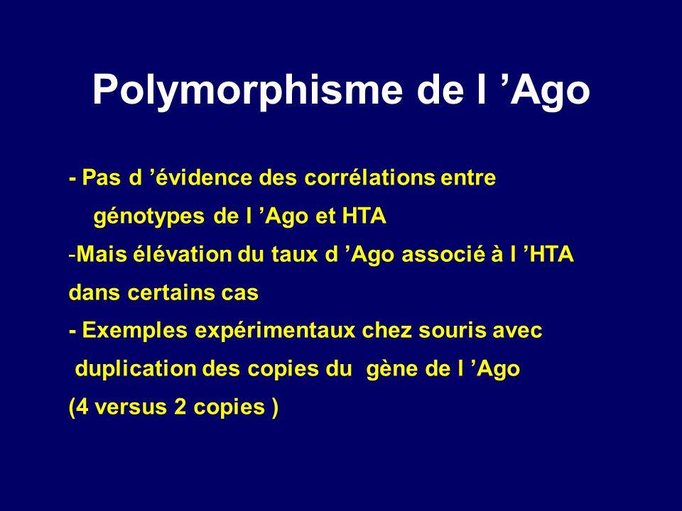 Polymorphisme de l 'Ago