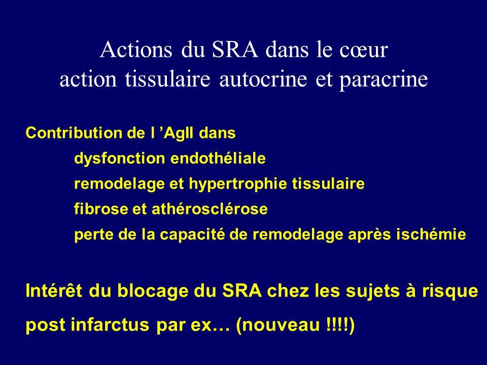Actions du SRA dans le cœur action tissulaire autocrine et paracrine