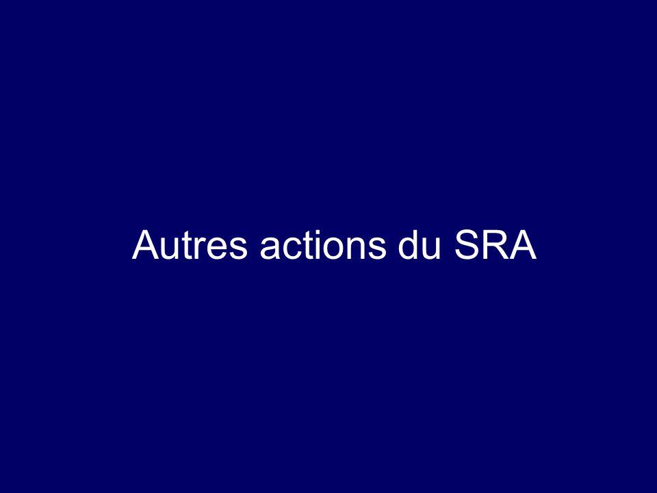 Autres actions du SRA
